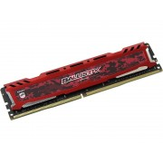 Модуль памяти Crucial Ballistix Sport LT Red DDR4 DIMM 2400MHz PC4-19200 CL16 - 16Gb BLS16G4D240FSE