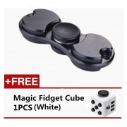 Tri-Spinner Fidgets Hand Spinner Fidget Juego EDC -Negro