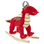 Happy Trails Deluxe Red Dragon Plush Rocking Animal