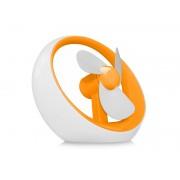 Wiatraczek pod USB lub na baterie Pomarańczowy - Pomarańczowy