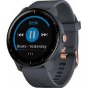 Ceas smartwatch Garmin Vivoactive 3 Music HR GPS Blue-Rose Gold