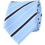 Krawatte Seide Blau Streifen - Blau