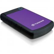"""Transcend Storejet HDD Extern 2.5"""" 1TB USB 3.0 Sistem cu Tripla Protectie la Soc Negru/Mov - Transcend Storejet HDD Extern 2.5"""" 1TB USB 3.0 Sistem cu Tripla Protectie la Soc Negru/Mov"""