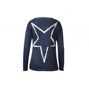 Weltbild Dlouhý jemný svetr s šálovým límcem, tmavě modrý, vel. m