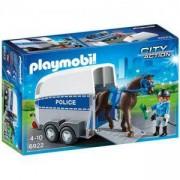 Комплект Плеймобил 6922 - Полицейски кон с фургон, Playmobil, 2900161
