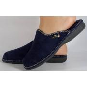 Papuci de casa bleumarin din plus dama/dame/femei (cod BERENICE)
