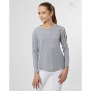 Cavalliera Lovely Pony Rose Longsleeve Top - Asgrijs - Size: 10/11