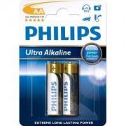 Алкални батерии Philips Ultra Alkaline батерия LR6 AA, 2-blister - LR6E2B/10