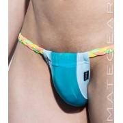 Mategear Hae Sang V Ultra Thin Nylon Series Seamless Xpression Series Mini Bikini Swimwear Turquoise 1920901