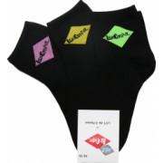 Set 3 perechi sosete dama Lee Cooper Opale 1 negre cu logo colorat