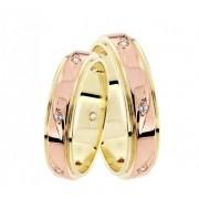 Zlatý snubní prsten GEMS EXCELENT, 431-0625 ze žlutého a červeného zlata