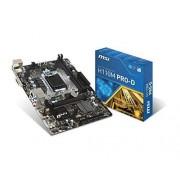 MSI H110M PRO-D Intel H110 LGA 1151 (Socket H4) Micro ATX motherboard - motherboards (DDR4-SDRAM, DIMM, 2133 MHz, Dual, 16GB, 32 GB)