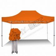 ray bot Gazebo pieghevole 3x4,5 arancione professionale senza laterali PVC 350g