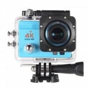 170 grados de gran angular 4K ultra HD 1080p camara de accion Wi-Fi - azul