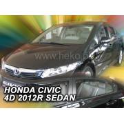 Deflektory komplet 4 ks pre HONDA Civic , 2012-