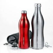 DoWaBo Edelstahl Isolierflasche, 0,75 Liter, silber