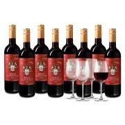Bourseduvin Coffret San Silvano Merlot 8 bouteilles + 4 luxueux verres