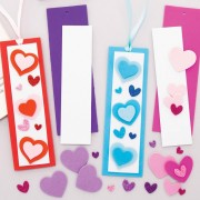 Baker Ross Heart Mix & Match Bookmark Kits (Pack of 8)