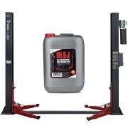 Podnośnik dwukolumnowy samochodowy 4T REDATS L-220F Automatyczny 230V + Olej Gratis - L-220 Automat na 230V