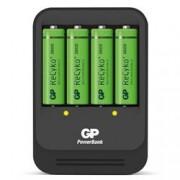 Gp Batteries Caricabatterie Intelligente 4 AA/AAA con 4 batterie AA 2600mAh USB nero