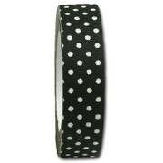 Maya Road FT2507 Candy Dots Fabric Tape for Crafting Licorice Black