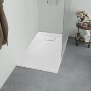 vidaXL fehér SMC zuhanytálca 90 x 70 cm
