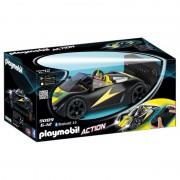 Masina de curse cu telecomanda, neagra