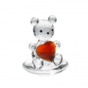 Figurina cristal Preciosa - Bear with Heart