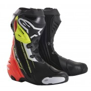 Alpinestars Stivali Moto Racing Supertech R Black Red Yellow Fluo White Cod. 2220015