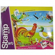 Ratna's DCS Educational Stamp Art Birds Stamp The Picture Colour It And Creat Your Own Bird Century For Kids