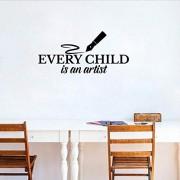Smydp Pegatinas De Pared 65Cm * 30Cm Cada Niño Es Un Arist Cita Decoración Para El Hogar Para Niños Pvc Pegatinas De Pared