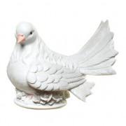 Merkloos Stenen spaarpot witte duif