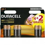 Italy's Cartridge BATTERIE DURACELL 6PZ AA ALCALINE 4 STILO AA DURACELL BATTERIA BASIC MN1500 CF. 6PZ COD. 5000394117815