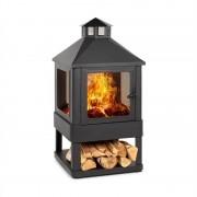 Blumfeldt Macondo, tűzhely, tűzrakó tál, 35 x 35 cm, zárt, acél, fekete (OL-F168- Macondo)