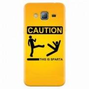 Husa silicon pentru Samsung Galaxy J3 2016 This Is Sparta Funny Illustration