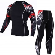 Traje deportivo para hombre Ropa deportiva de ciclismo - Rojo Gris
