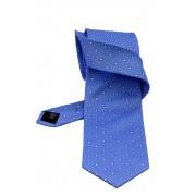 Cravata matase GC bleu cu mini patrate