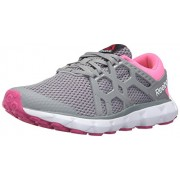 Reebok Women s Hexaffect Run 4.0 MU Mtm Walking Shoe Flat Grey/Poison Pink/Rose Rage/White/Solar Yellow 9.5 B(M) US