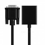 Convertidor de cable VGA macho a HDMI hembra? la computadora se conecta al adaptador de TV con cable de audio