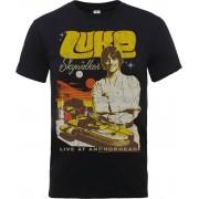 Star Wars Camiseta Star Wars Luke Skywalker Póster Rock - Hombre - Negro - XL - Negro