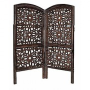 Shilpi Handicrafts Small Size Wooden Room Divider Screen Partition Made in Mango Wood Frame Jali in MDF Panel (2)