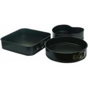 SUKHAD Heart/Round/Square Shaped Springform Non Stick Baking Pan(Pack of 3) Full Cake Maker Cake Maker