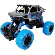 Emob 4 Wheel 118 Scale Amazing Graphic Printed Rock Crawler Pull back Metal Diecast Car Toy-assorted Color (Multicolor