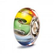 Trollbeads TGLBE-20003 Kraal Chakrakleuren zilver/glas