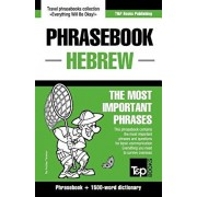 English-Hebrew phrasebook and 1500-word dictionary, Paperback/Andrey Taranov
