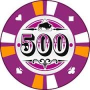 Kerámia póker zseton 500