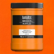 Liquitex Basics akrilfesték, 946 ml - 720, cadmium orange hue