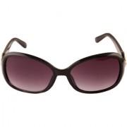 Adine Purple UV Protection Oval Frames Women Sunglasses