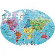 Puzzle clasic pentru copii 205 piese - Planeta Pamant - Cunoaste si exploreaza
