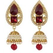 Jewels Gold Alloy Party Wear Wedding Traditional Gold Fancy Jhumki Earring Set For Women Girls